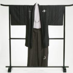 男性袴 黒刺繍セット