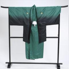 男性袴 緑黒グラデ