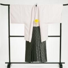 男性袴 正絹ピンク 袴セット