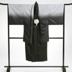 男性袴 グレー黒グラデーション