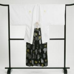 男性袴 白バラ刺繍 袴セット